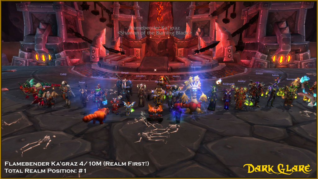 Mythic Flamebender Ka'graz Dead! 4/10M #1 Realm #1 Total Progress