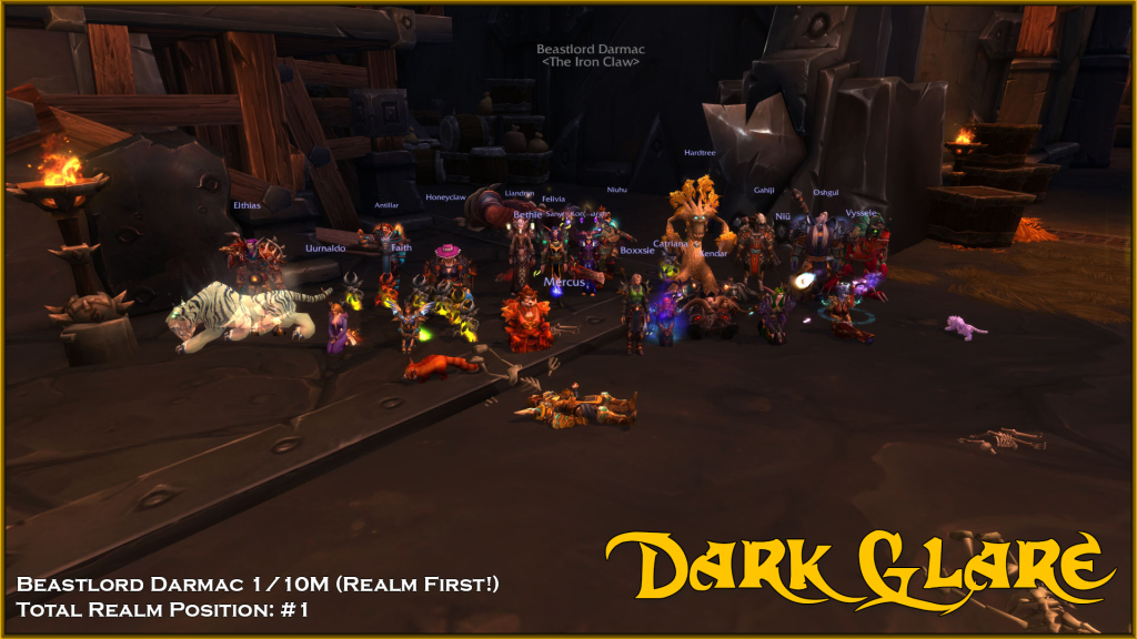 Mythic Beastlord Darmac Dead! 1/10M #1 Realm #1 Total Progress